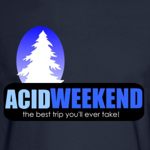 acid weekend ski trip lsd tripping party - Men's Long Sleeve T-Shirt