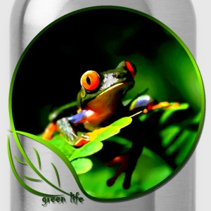 Green Life Series - Tree Frog (WGT) - Water Bottle