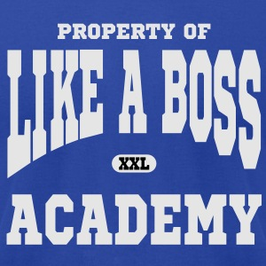Property of Like A Boss Academy Tanks - Men's T-Shirt by American Apparel