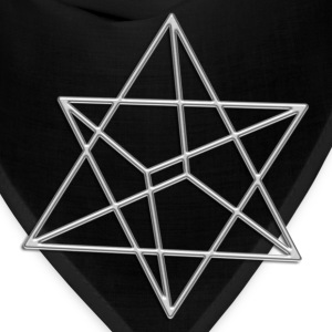 Merkaba, 3D, digital silver, divine light vehicle, sacred Geometry Women's T-Shirts - Bandana
