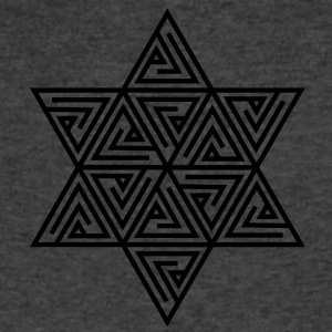 Merkaba - sacred geometry -  Flower of life, c, 2, Long Sleeve Shirts - Men's V-Neck T-Shirt by Canvas