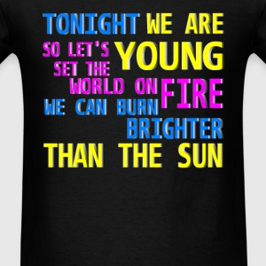 tonight we are young Long Sleeve Shirts - Men's T-Shirt