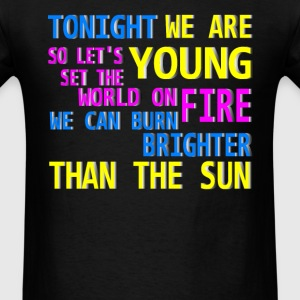 tonight we are young Hoodies - Men's T-Shirt