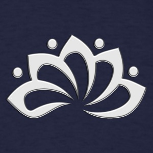 Lotus Flower, digital silver, symbol of perfection and enlightenment, sacred symbol Long Sleeve Shirts - Men's T-Shirt
