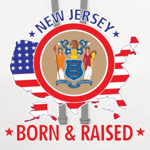 New_Jersey_born_and_raised T-Shirts - Contrast Hoodie