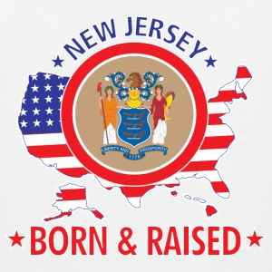 New_Jersey_born_and_raised T-Shirts - Men's Premium Tank