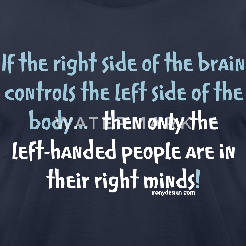 Left-handed people - Men's T-Shirt by American Apparel