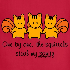 One by one the Squirrels - Adjustable Apron
