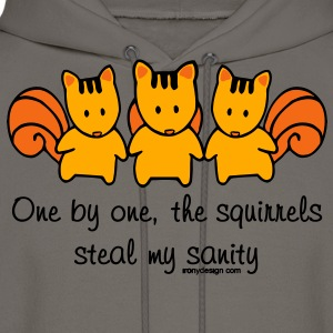 One by one the Squirrels - Men's Hoodie
