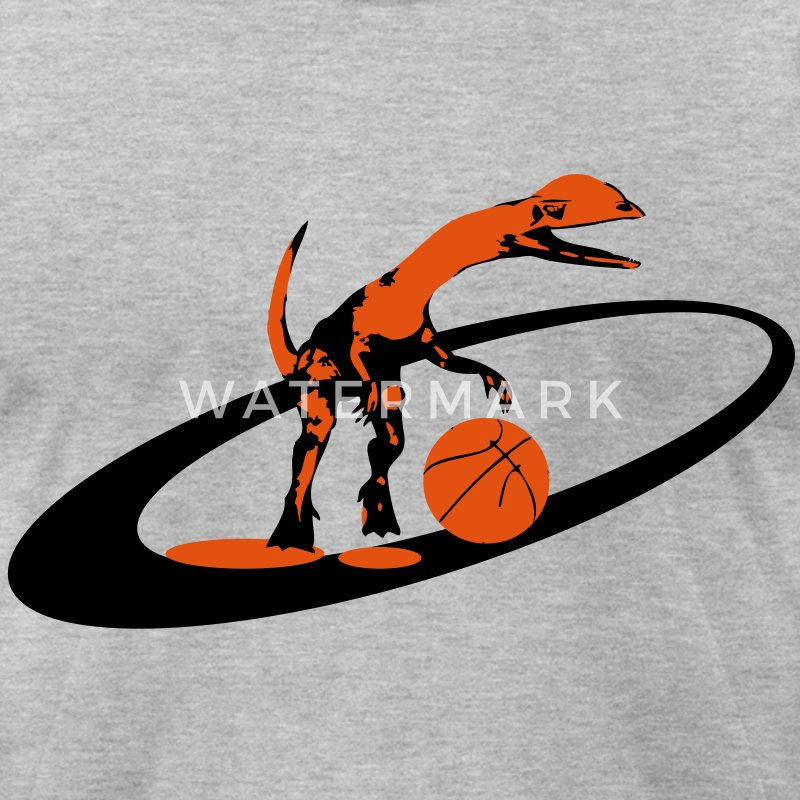 dinosaur basketball T-Shirts - Men's T-Shirt by American Apparel