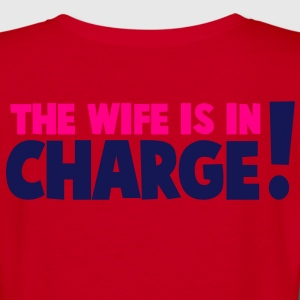 the wife is in charge! Zip Hoodies/Jackets - Women's V-Neck T-Shirt