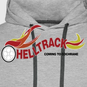Vintage Stylish HELLTRACK Shirt from the Movie RAD - Men's Premium Hoodie