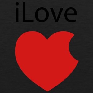 iLove Apple Heart - Men's Premium Tank