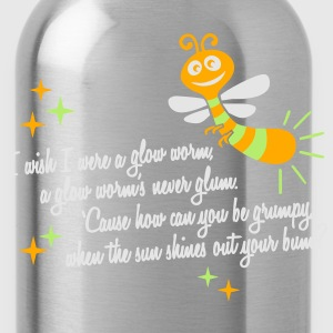 I wish I were a glow worm T-Shirts - Water Bottle