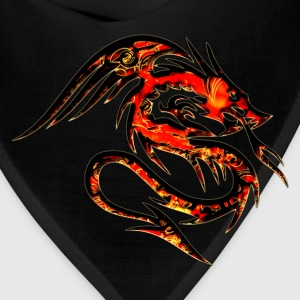 Dragon fire , digital, red Women's T-Shirts - Bandana