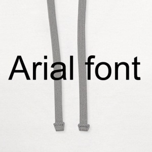Arial font funny shirt - Contrast Hoodie