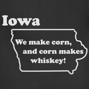 IOWA - We make Whiskey. - Adjustable Apron