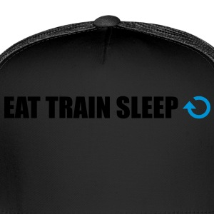 Eat train sleep repeat - Trucker Cap
