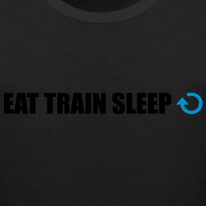 Eat train sleep repeat - Men's Premium Tank