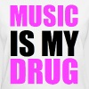 Music Is My Drug Day Glow Design Women's T-Shirts - Women's T-Shirt