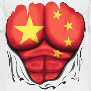 China Flag Ripped Muscles, six pack, chest t-shirt - Toddler Premium T-Shirt