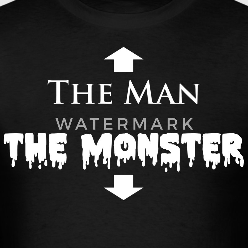 The Man and The Monster T-Shirts - Men's T-Shirt