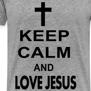 keep calm and love jesus Long Sleeve Shirts - Men's Premium T-Shirt
