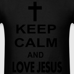 keep calm and love jesus Hoodies - Men's T-Shirt