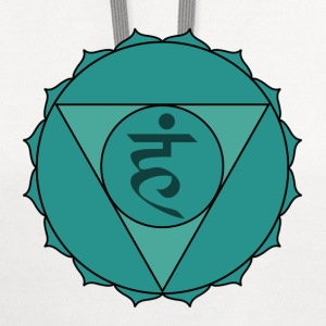 vishuddhi or throat chakra t-shirt - Contrast Hoodie