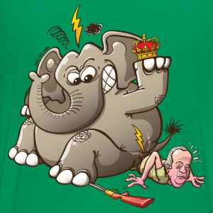 Spain's King Breaks Hip While Elephant Hunting Hoodies - Men's Premium T-Shirt