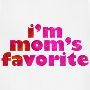 I'M MOM'S FAVORITE - pink T-Shirts - Adjustable Apron