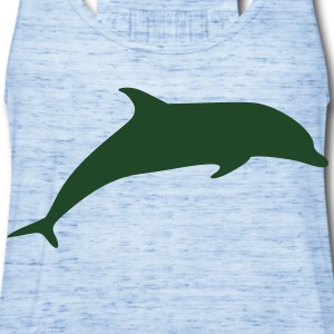 Dolphin Vector T-Shirts - Women's Flowy Tank Top by Bella
