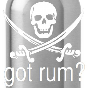 Got Rum? Skull and Swords Pirate Design T-Shirts - Water Bottle
