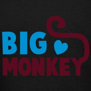 BIG MONKEY with a tail and a love heart good family design Long Sleeve Shirts - Men's T-Shirt