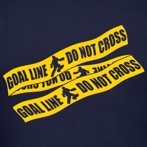 Goal Line Do Not Cross (field hockey) Zip Hoodies/Jackets - Men's T-Shirt