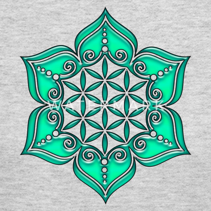 Flower of life, Lotus - Flower, green, Symbol of perfection and balance Long Sleeve Shirts - Women's Long Sleeve Jersey T-Shirt