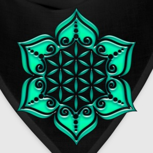 Flower of life, Lotus - Flower, green, Symbol of perfection and balance Long Sleeve Shirts - Bandana