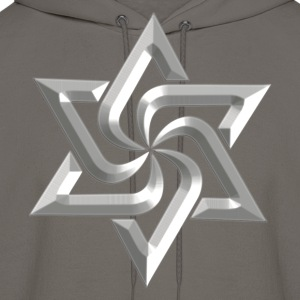 Rael Star, digital silver, variant of Swasika (Svasti - happiness, Salvation) - happiness symbol T-Shirts - Men's Hoodie