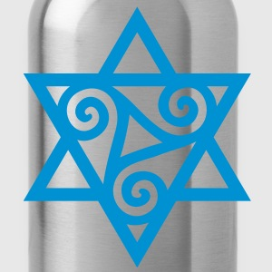 TRISKELE: Yin power symbol, vector, Merkaba, Energy Symbol, Protection Force T-Shirts - Water Bottle