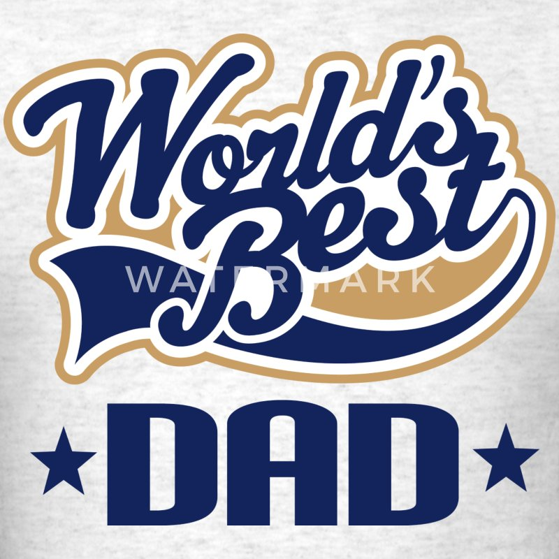 World's Best Dad Mens T-shirt - Men's T-Shirt