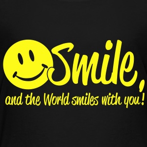 Smile, and the World smiles with you! Baby Bodysuits - Toddler Premium T-Shirt