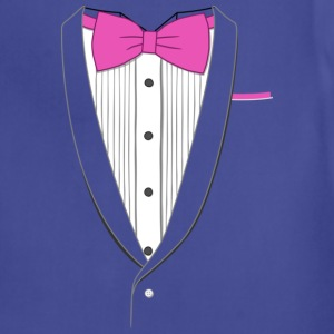 Tuxedo T Shirt Classic Pink Tie Youth - Adjustable Apron