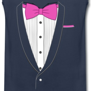 Tuxedo T Shirt Classic Pink Tie Youth - Men's Premium Tank