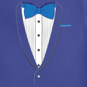 Tuxedo T Shirt Classic Blue Tie Youth - Adjustable Apron