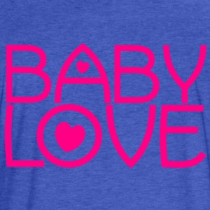 baby love cute font with love hearts lovely! Sweatshirts - Fitted Cotton/Poly T-Shirt by Next Level
