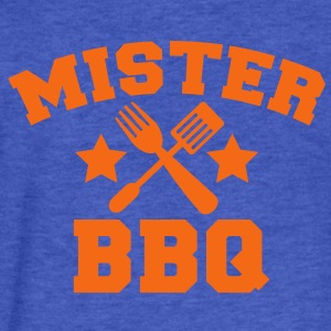 MISTER BBQ barbecue with grilling fork spatula and stars Sweatshirts - Fitted Cotton/Poly T-Shirt by Next Level