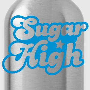 sugar high blue in a funky font Sweatshirts - Water Bottle