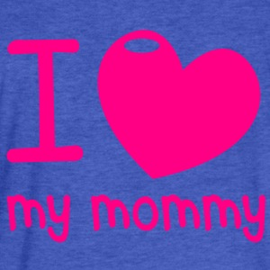 I LOVE MY MOMMY! with cute little love heart Sweatshirts - Fitted Cotton/Poly T-Shirt by Next Level