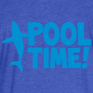 pool time! with a whale Sweatshirts - Fitted Cotton/Poly T-Shirt by Next Level