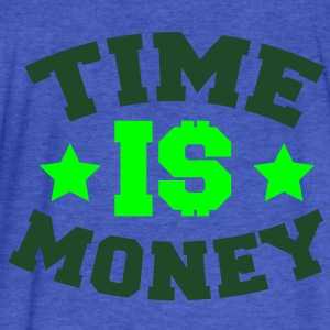 TIME IS MONEY dollars and stars Sweatshirts - Fitted Cotton/Poly T-Shirt by Next Level